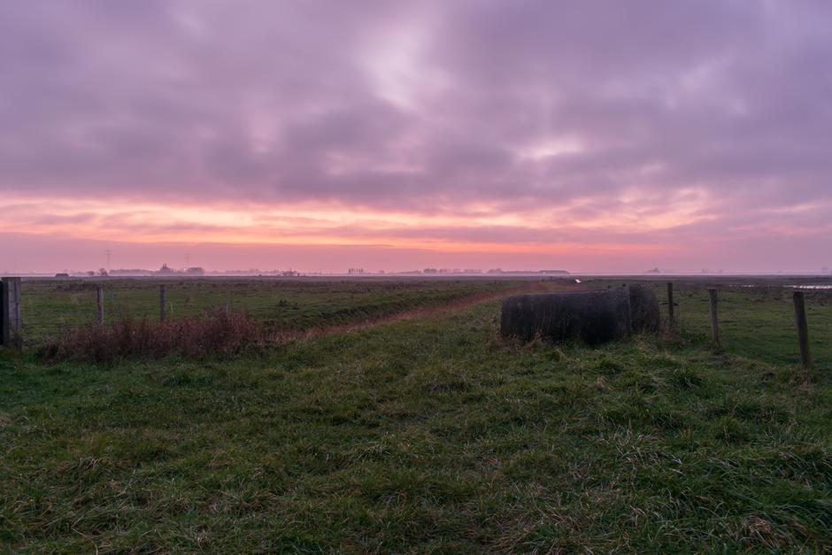 Mooie kleuren ruim half uur na zonsondergang