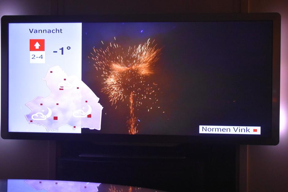 Weer een vuurwerk foto op rtv Drenhte op de eerste dag van het jaar super