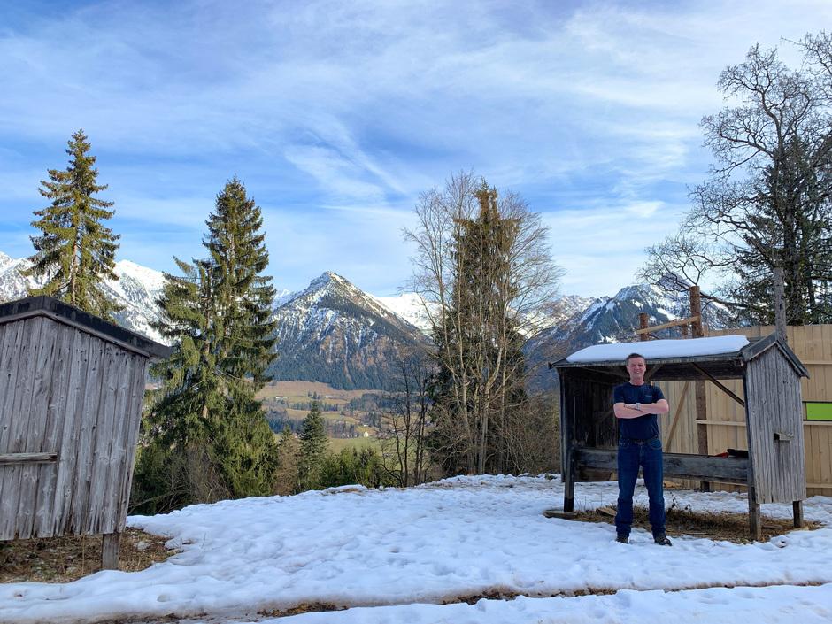 Zon en wolken in de Zuid Duitse Alpen