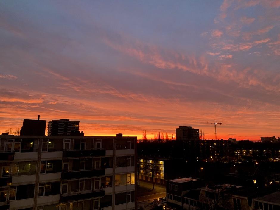 Vurige zonsopkomst