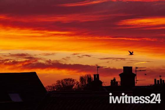 Sunset over Great Yarmouth