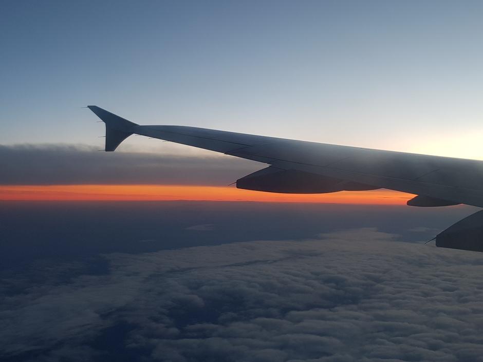 20200114 Boven Noord Duitsland was er een oranje zonsondergang