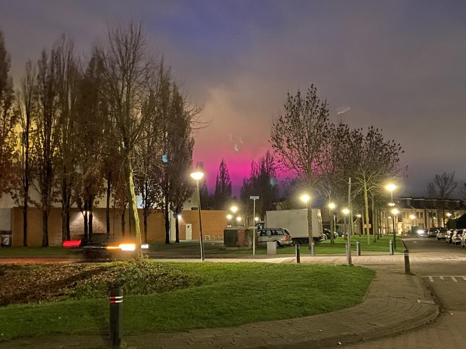 Fuchsia roze lucht
