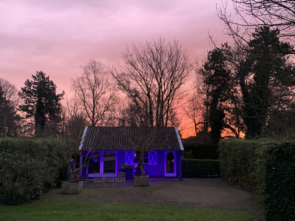 Rood roze lucht