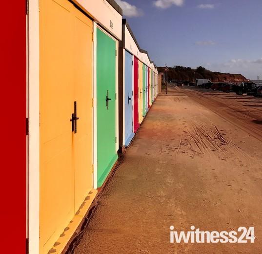 Exmouth Beach Hut Reflections