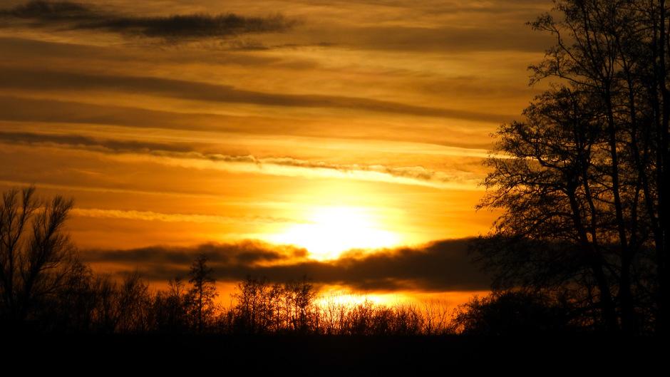 Een mooie zonsondergang.