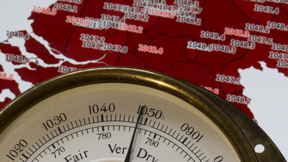 De luchtdruk in Nederland is vandaag zeer hoog.  #luchtdrukrecords