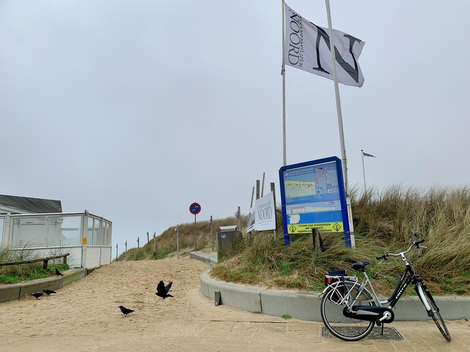 Wind, koud en een enkele fiets