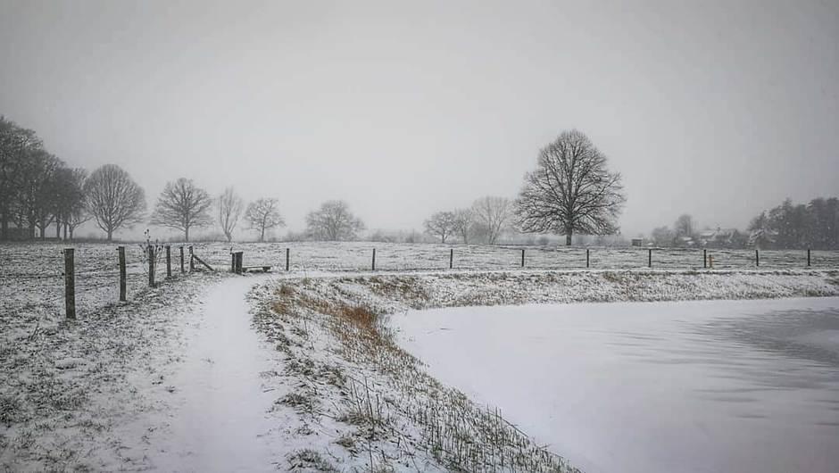 Vandaag precies een jaar geleden, sneeuw