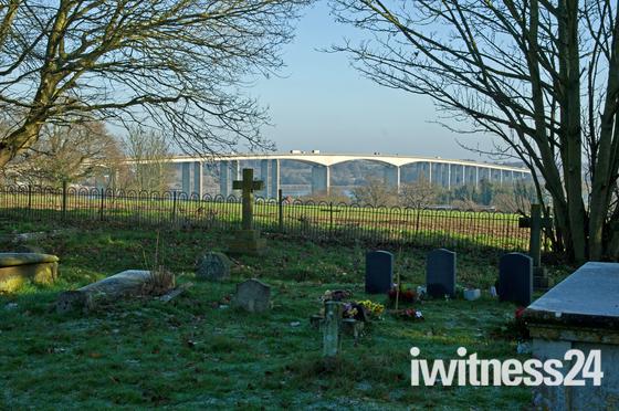 Orwell bridge veiw from Whersted Church 21/01/2020.  2