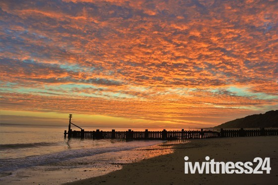 A lovely January Mundesley sunrise