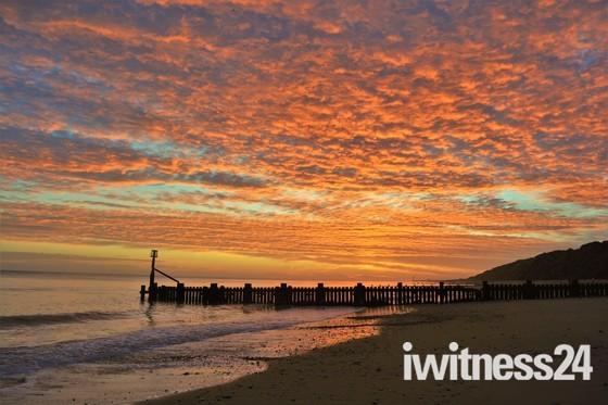 A lovely January Mundesley sunrise