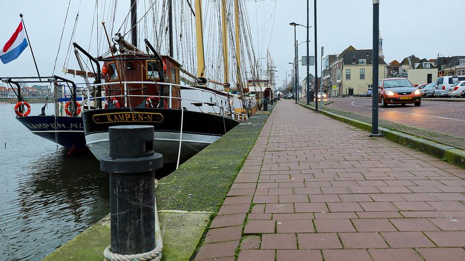Een grijs weerbeeld in Kampen