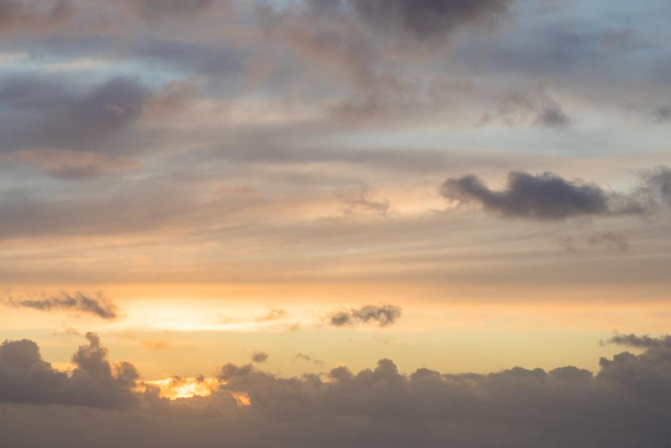 De wolken lijkt wel kunst.