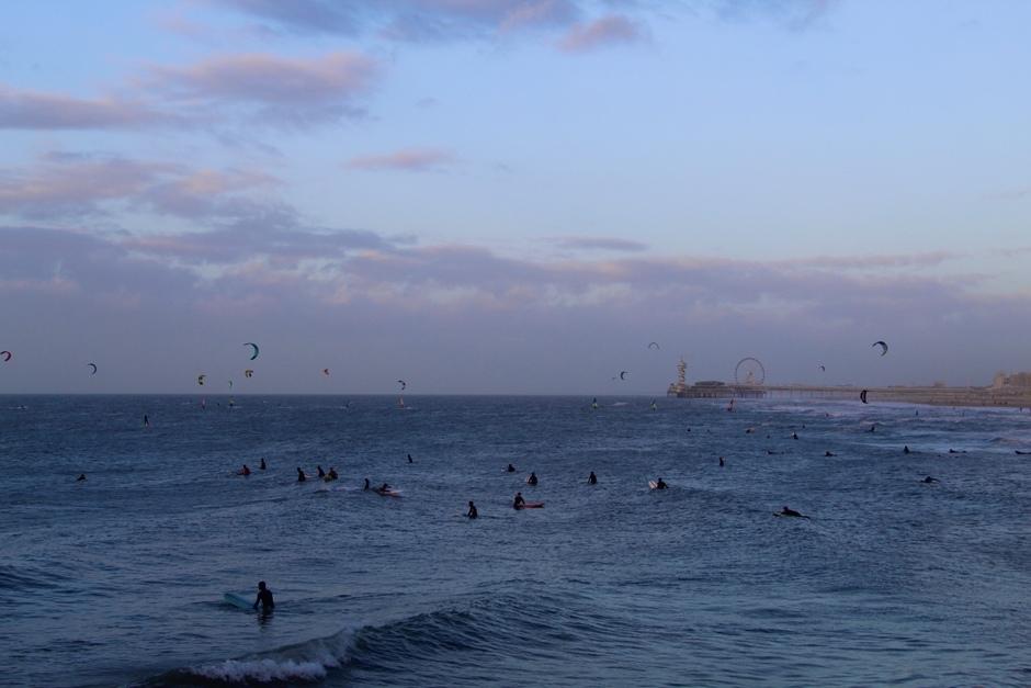Mooie dag voor kite surfers