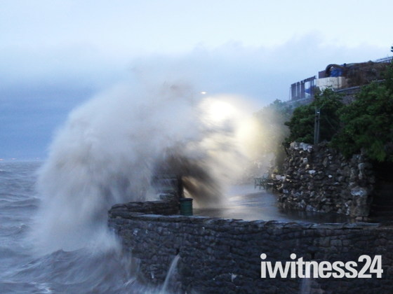 sea front storm hits weston