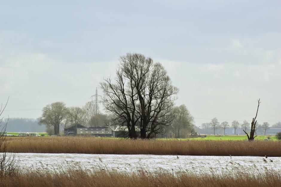 Hoog water bij Ramspol bij Kampen