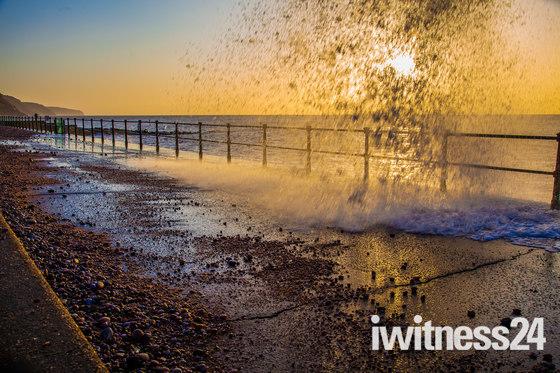 Rough sea at Sidmouth.