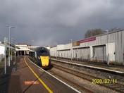 The 1412 GWR train to London Paddington, at Paignton Station
