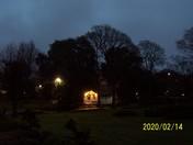 Manor Gardens after dusk