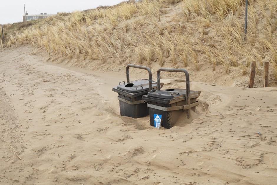 In zand verpakt