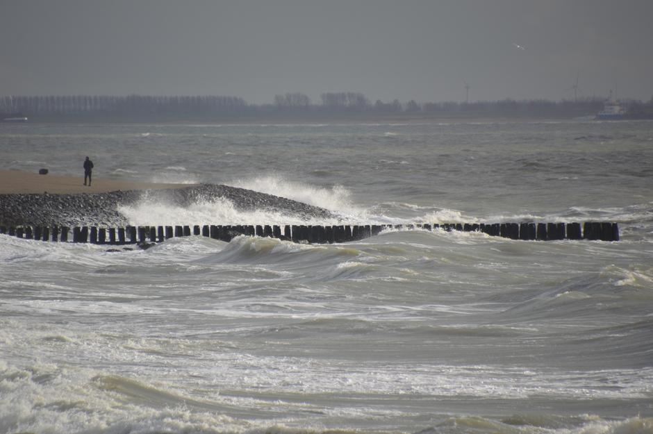 Stormachtig aan zee