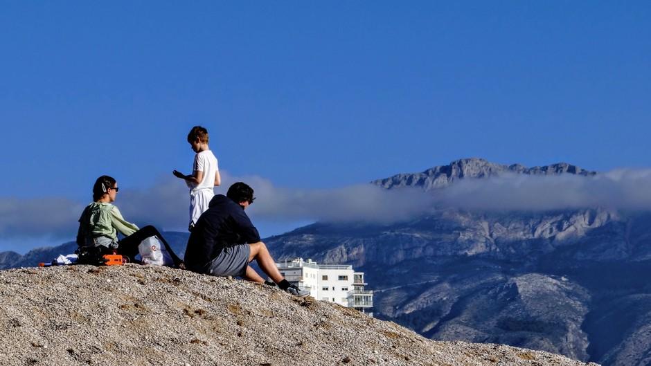 Op de berg..