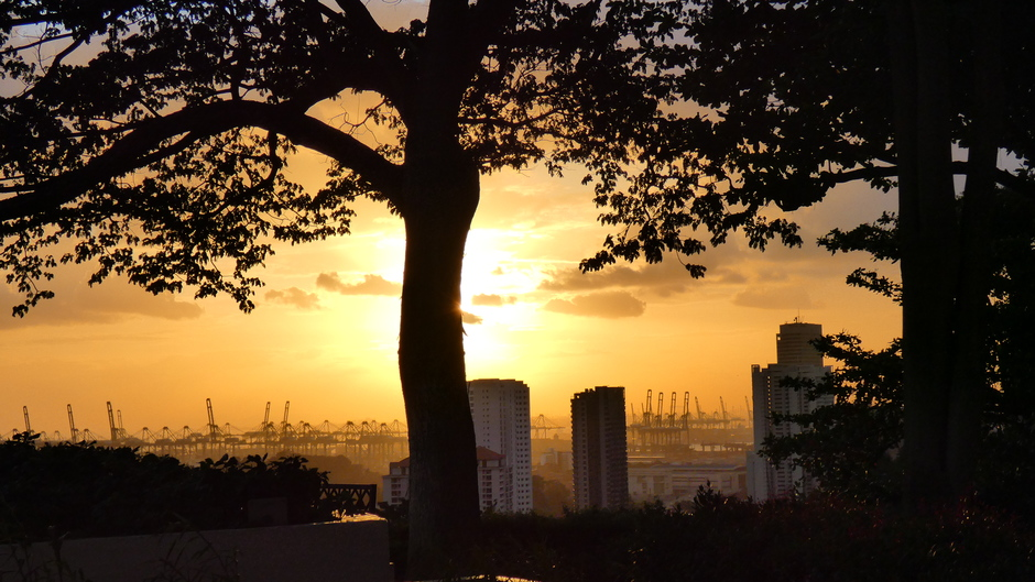 Zonsondergang vandaag in Singapore