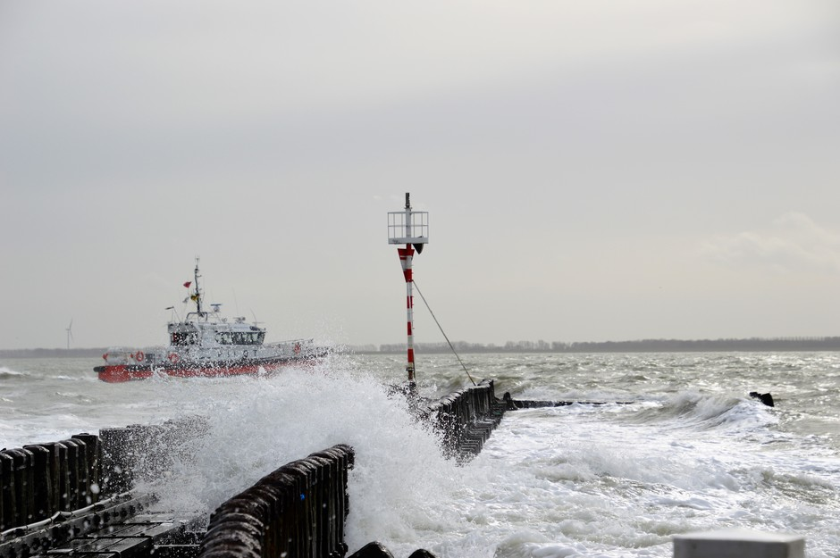 Windkracht 6 bij vloed
