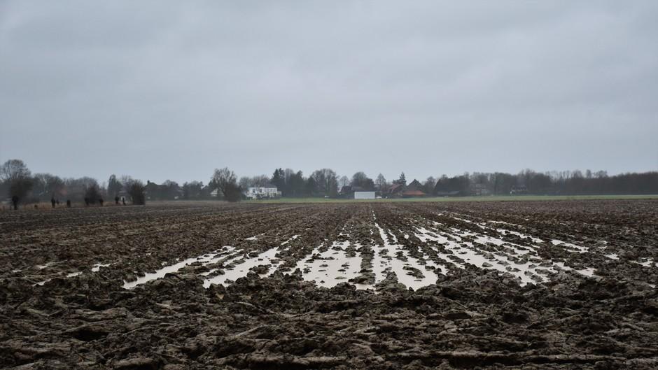 Grijs bewolkt en regen