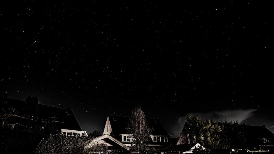 Heldere sterrenhemel vannacht
