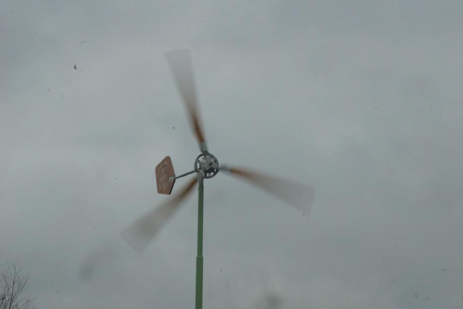 Wind en regen zoals hier in Hoogmade