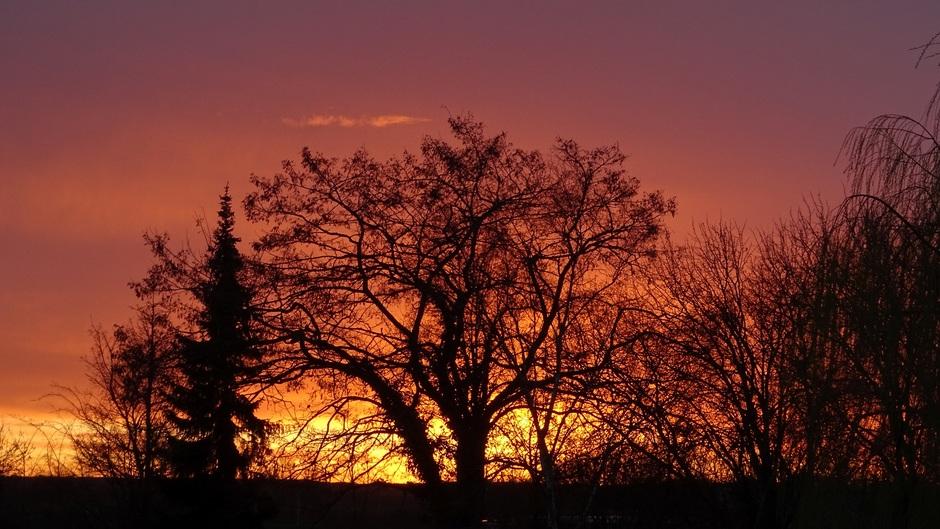 Zonsopgang vanmorgen