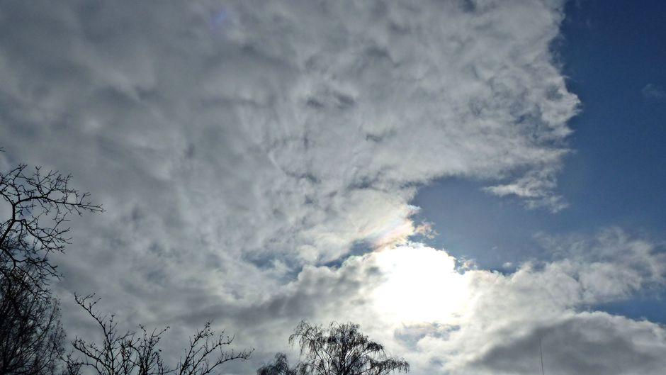 Kleur in de wolken
