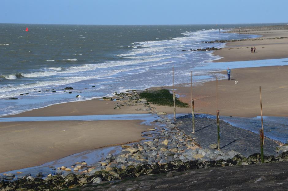 Meer wind aan zee