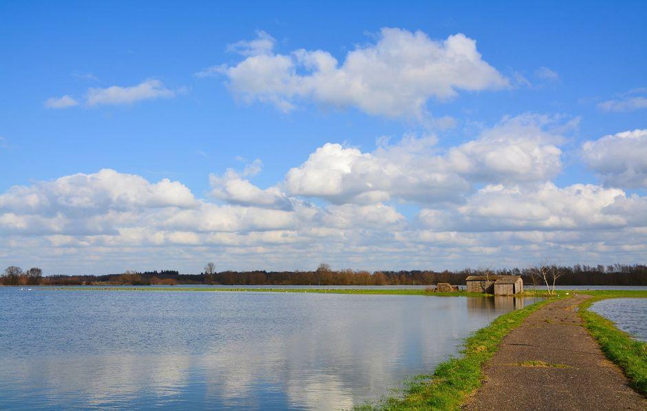 Hoogwater in de IJssel.