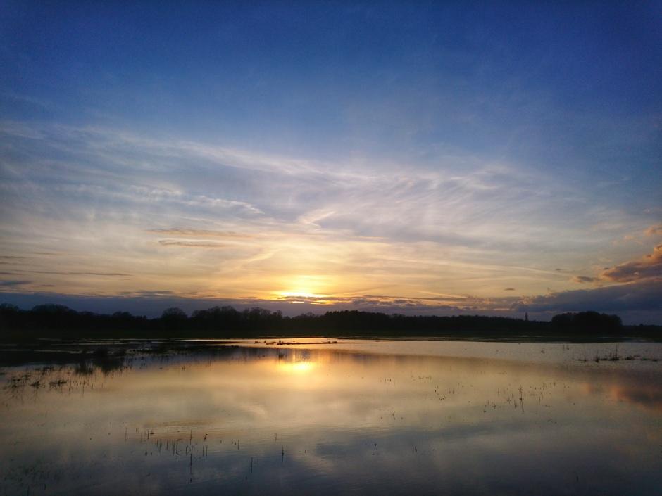 Zonsondergang bij de Zunasche heide.
