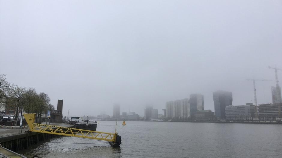 Mistige morgen in Rotterdam
