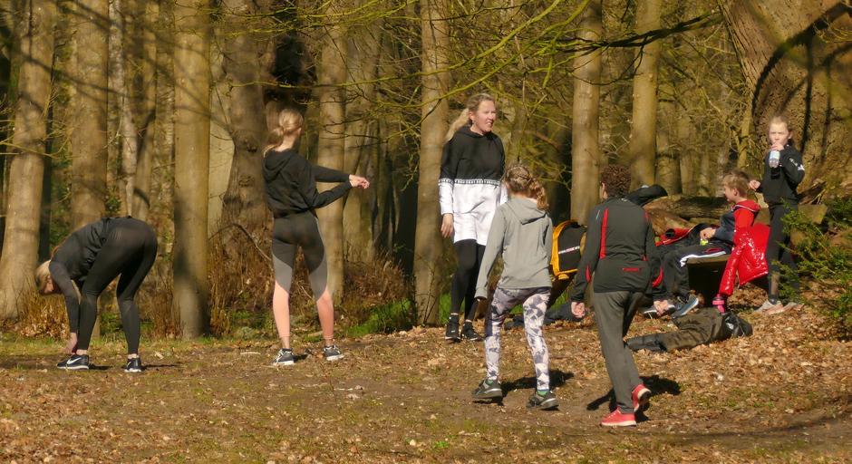 Groenendaalse bos. sporten in Heemstede