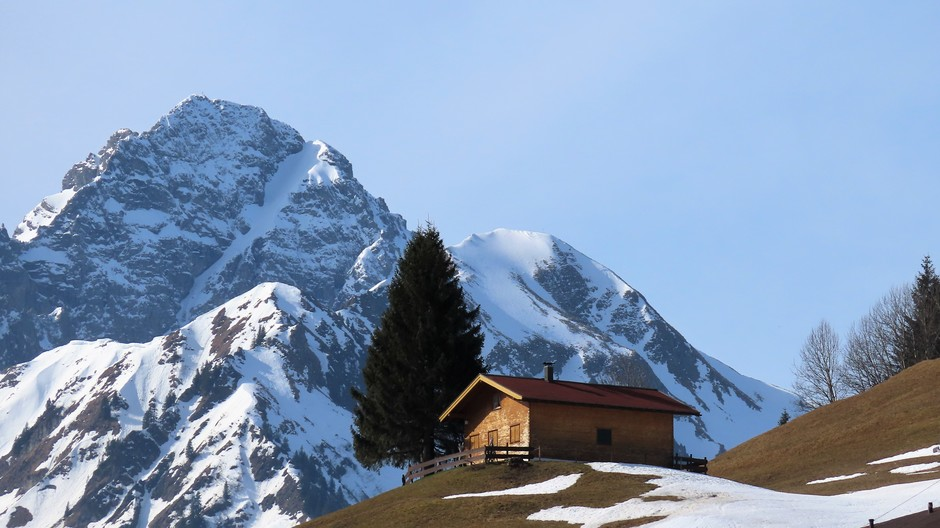 Alpen: van lente in de winter