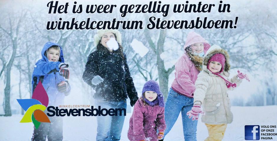 Winter in de Stevenshof Leiden weerfoto
