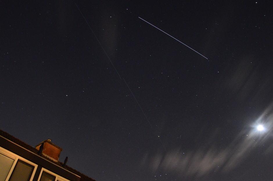 Overgang ISS en de de Starlink