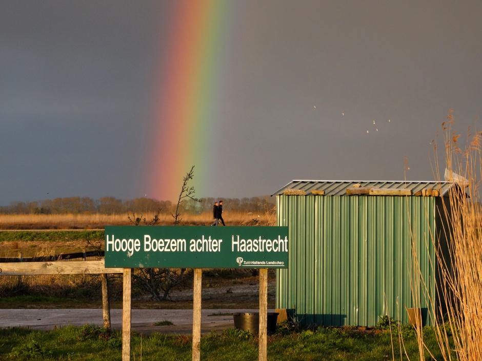 Wat een mooie regenboog