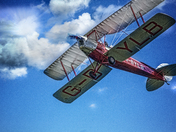 Project 52  Vintage Bi Plane over Nth Repps airfield