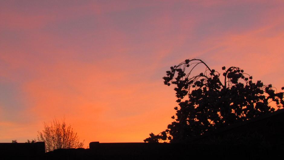 Kleurig na zonsondergang