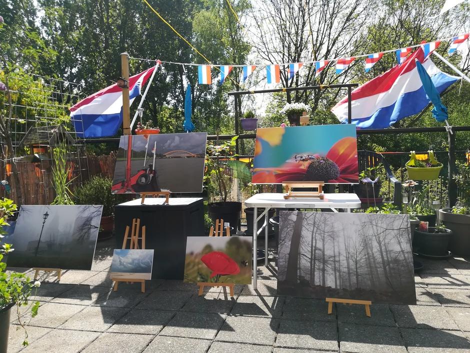 Zonnige Koningsdag / weerfoto expositie op mijn terras