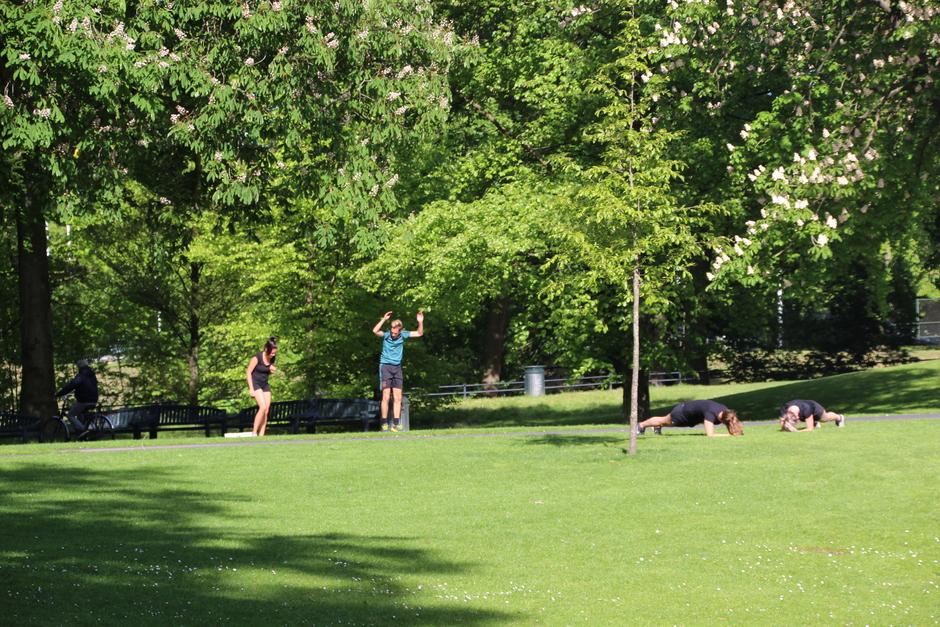 Wat sporten in het Valkenberg park