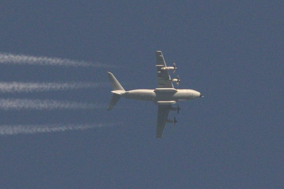 20200505 Een A400M transportvliegtuig van de Spaanse Luchtmacht boven Eindhoven, op ~10km hoogte