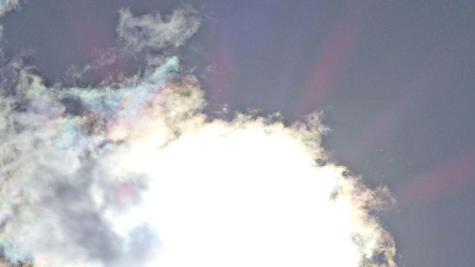 zacht gekleurde wolk