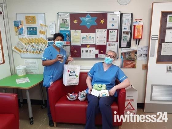 Hinchingbrook Hospital staff and Community donations for welfare packs